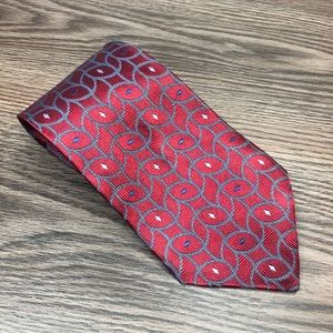 Jos. A. Bank Accessories - Jos A Bank Red w/ Blue & White Check Tie